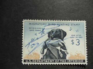 Federal Duck Stamp Rw 26, ,  Vf - Xf,  Bright Clear Copy,  1959 photo