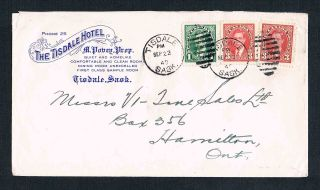 1940 Cover From The Tisdale Hotel In Tisdale Saskatchewan With Sample Room photo