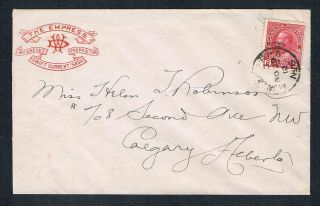 1912 Cover The Empress In Swift Current Saskatchewan Wm.  Drever Proprietor photo