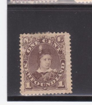 Newfoundland Sc 43 1c Brown Edward Vii As Prince Of Wales Hr Og F/vf Sc$110 photo