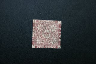 Foundland 12a A1 1860 5p Stamp photo