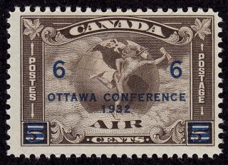 Canada Scott C4 Stamp - Lightly Hinged - Early Canada Airmail Stamp photo