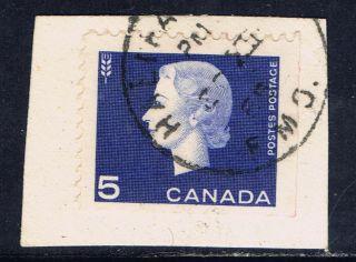 Canada 405 (1) 1962 5 Cent Vio Blue Elizabeth Ii Halifax Field Military Office photo