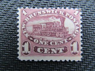 1860 Brunswick 1 Cent Mng Stamp,  6a,  Cv $70.  00 photo