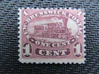 1860 Brunswick 1 Cent Mng Stamp,  6a,  Cv $70.  00 photo
