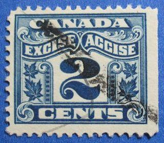 1915 2c Canada Excise Tax Revenue Vd Fx36 B 36 Cs15227 photo