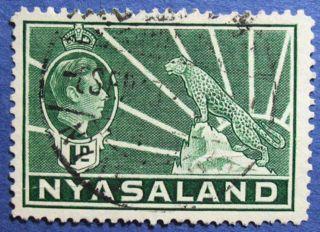 1942 Nyasaland 1d Scott 55a S.  G.  131b  Cs08897 photo