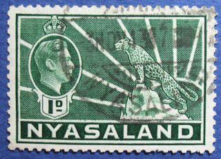 1942 Nyasaland 1d Scott 55a S.  G.  131b  Cs08898 photo