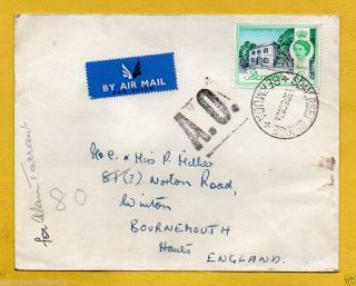Bermuda 1962 Air Mail To England - A.  O.  (autres Objets) Cachet+somerset Bridge Cds photo