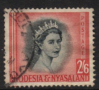 Rhodesia And Nyasaland 1954 2 Shillings 6 D Fine photo