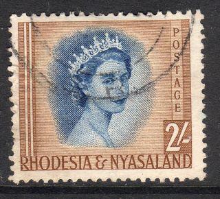 Rhodesia And Nyasaland 1954 2 Shillings Fine photo