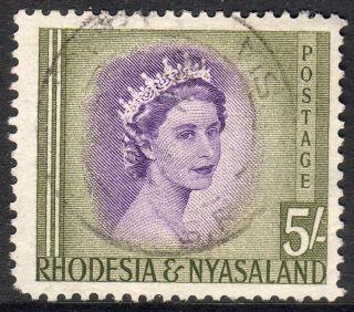 Rhodesia And Nyasaland 1954 5 Shillings Fine photo
