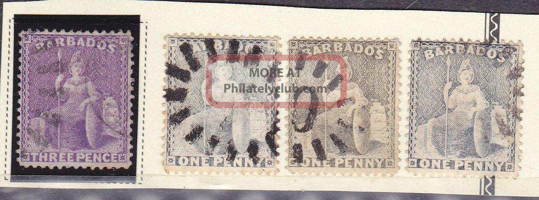 57,  51a,  51 Barbados - Cv $14.  00 British Colonies & Territories photo