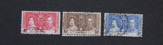 Nigeria 1937 Coronation Of Kgvi And Queen Elizabeth Fu Scott 50 - 2 Sg 46 - 8 photo