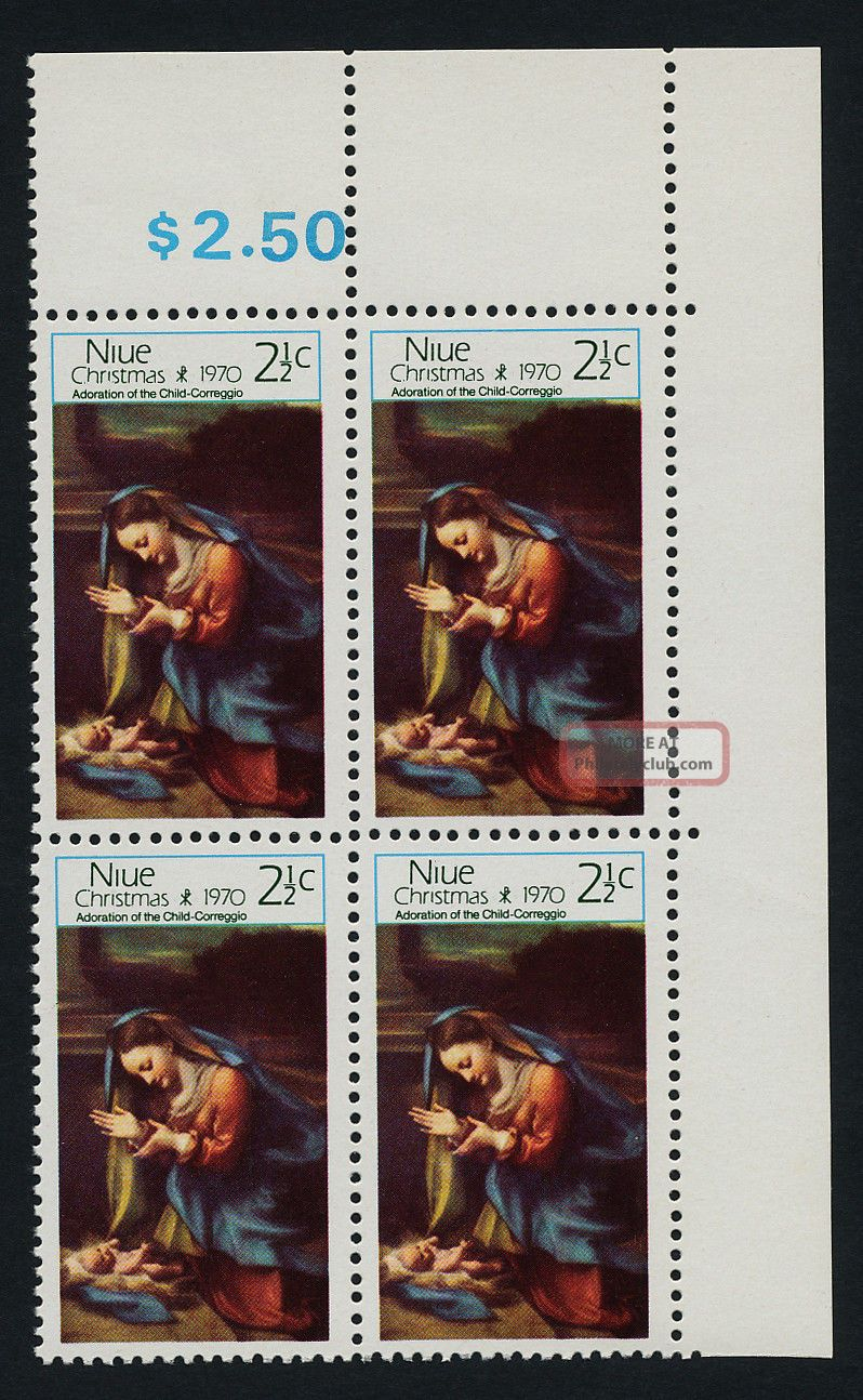 Niue 135 Tr Block Christmas,  Art British Colonies & Territories photo