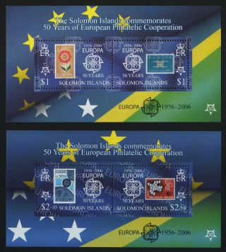 Solomon Islands 1001c - 6c Stamp On Stamp photo