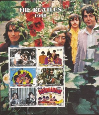 Congo - 2004 The Beatles 1968 - 6 Stamp Deluxe Sheet - 3a - 420 photo