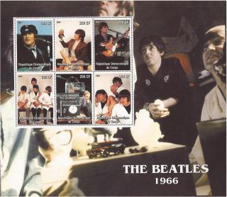 Congo - 2004 The Beatles 1966 - 6 Stamp Deluxe Sheet - 3a - 418 photo