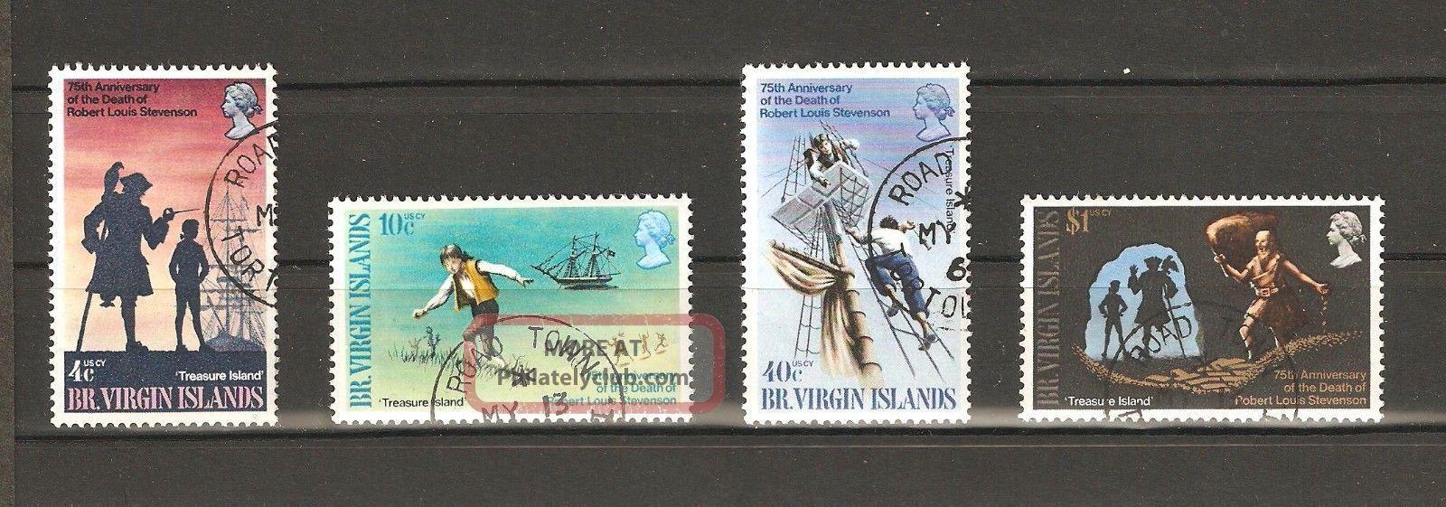 British Virgin Islands 1969 Scott 198 To 201 Treasure Island Vf British Colonies & Territories photo