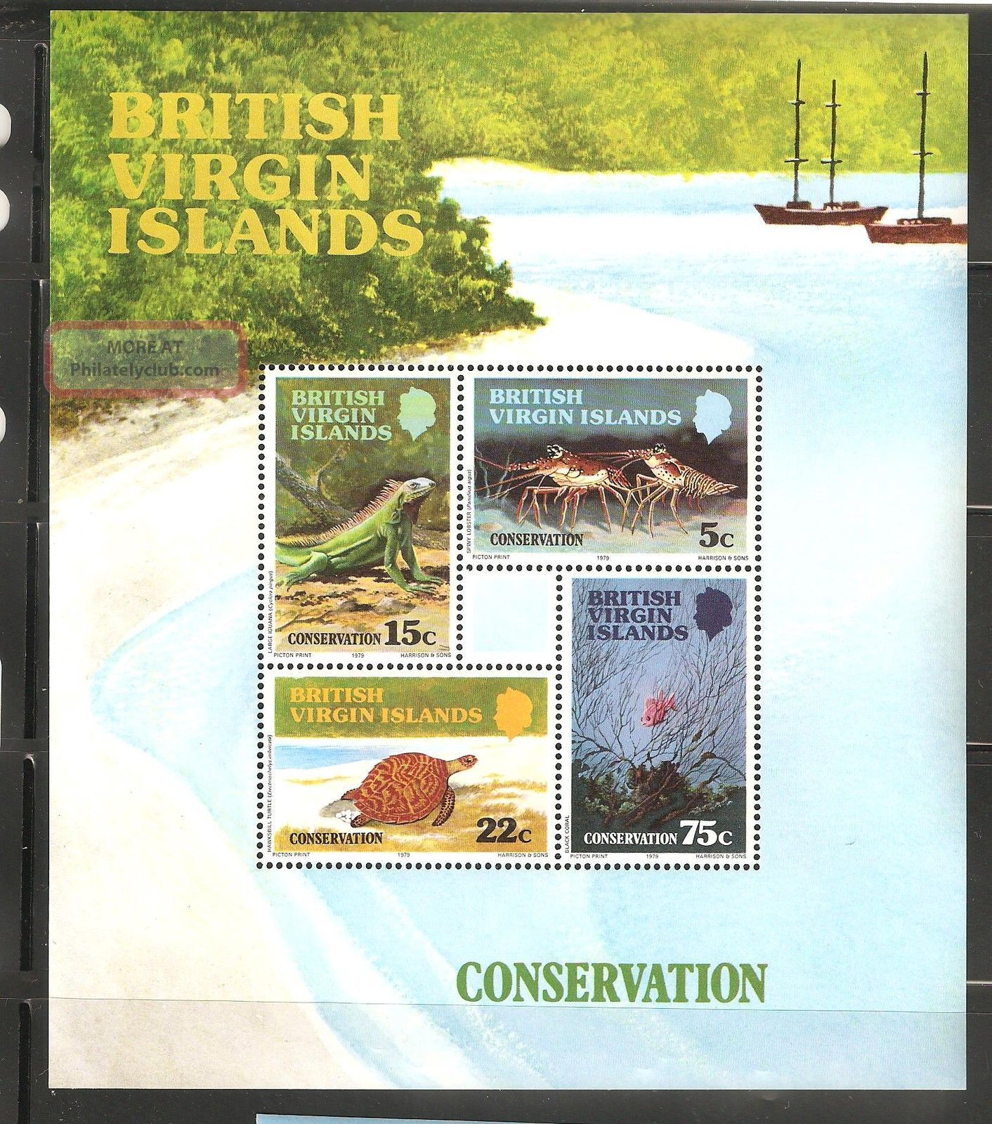 British Virgin Islands 1979 Sc 346 - 349a Conservation Souvenir Sht Vf British Colonies & Territories photo