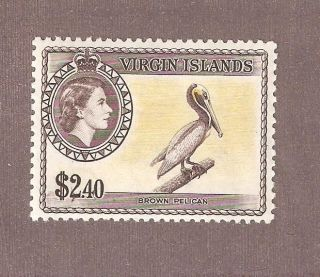 British Virgin Islands 1956 Scott 126 Brown Pelican Vf Mlh Cv $76 photo