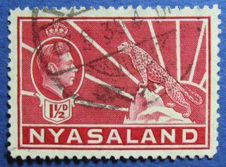 1938 Nyasaland 1 1/2d Scott 56 S.  G.  132  Cs08899 photo