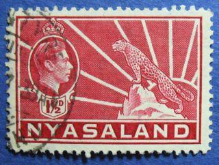 1938 Nyasaland 1 1/2d Scott 56 S.  G.  132  Cs08900 photo