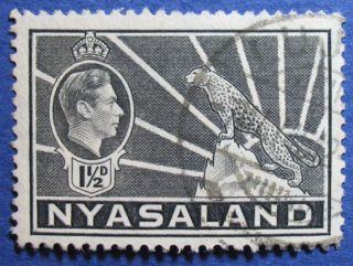 1942 Nyasaland 1 1/2d Scott 56a S.  G.  132a Cs08901 photo