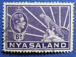 1938 Nyasaland 6d Scott 60 S.  G.  136  Cs08905 photo