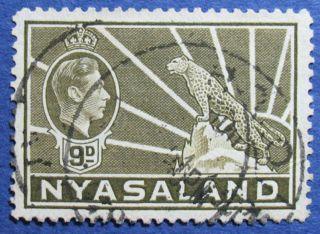 1938 Nyasaland 9d Scott 61 S.  G.  137  Cs08906 photo