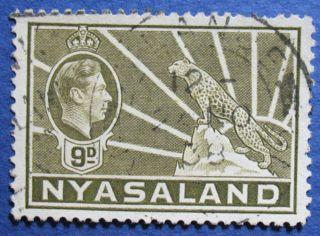 1938 Nyasaland 9d Scott 61 S.  G.  137  Cs08907 photo