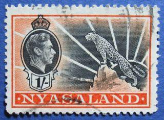1938 Nyasaland 1s Scott 62 S.  G.  138  Cs08910 photo