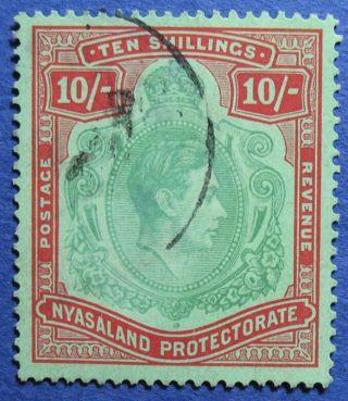 1938 Nyasaland 10s Scott 66 S.  G.  142  Cs08918 photo