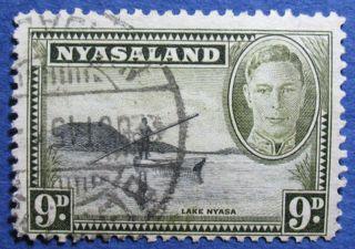 1945 Nyasaland 9d Scott 75 S.  G.  151  Cs08922 photo