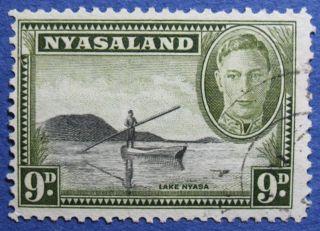 1945 Nyasaland 9d Scott 75 S.  G.  151  Cs08923 photo
