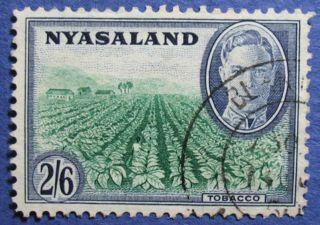 1945 Nyasaland 2s6d Scott 78 S.  G.  154  Cs08927 photo
