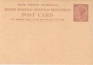 British Honduras Postal Card Victoria 1 1/2 Penny photo