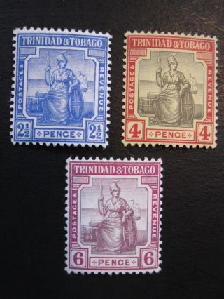 Trinidad&tobago - Scott 4 - 6 - Wm3 - Mh - Cat Val $19.  80 photo