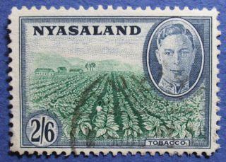 1945 Nyasaland 2s6d Scott 78 S.  G.  154  Cs08928 photo