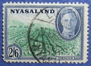1945 Nyasaland 2s6d Scott 78 S.  G.  154  Cs08929 photo