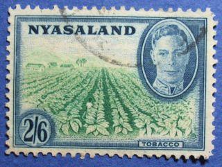 1945 Nyasaland 2s6d Scott 78 S.  G.  154  Cs08931 photo