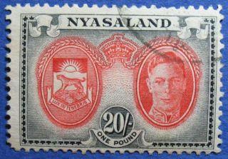 1945 Nyasaland 20s Scott 81 S.  G.  157  Cs08935 photo