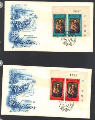 British Honduras - Cover With The Christmas 1969 Issue photo