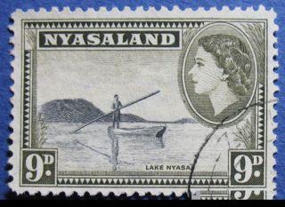 1953 Nyasaland 9d Scott 105 S.  G.  181  Cs08946 photo