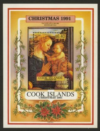 Cook Islands 1054 Christmas,  Art photo