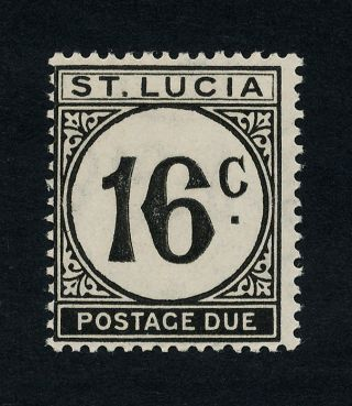 St Lucia J10 Mh Regular Paper - Postage Due photo