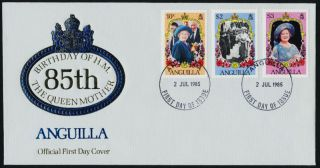 Anguilla 619 - 21 Fdc Queen Mother,  85th Birthday photo