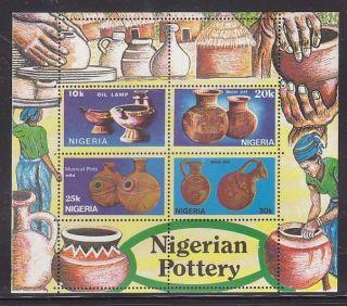 Nigeria - Arts,  Nigerian Pottery,  Sheetlet photo
