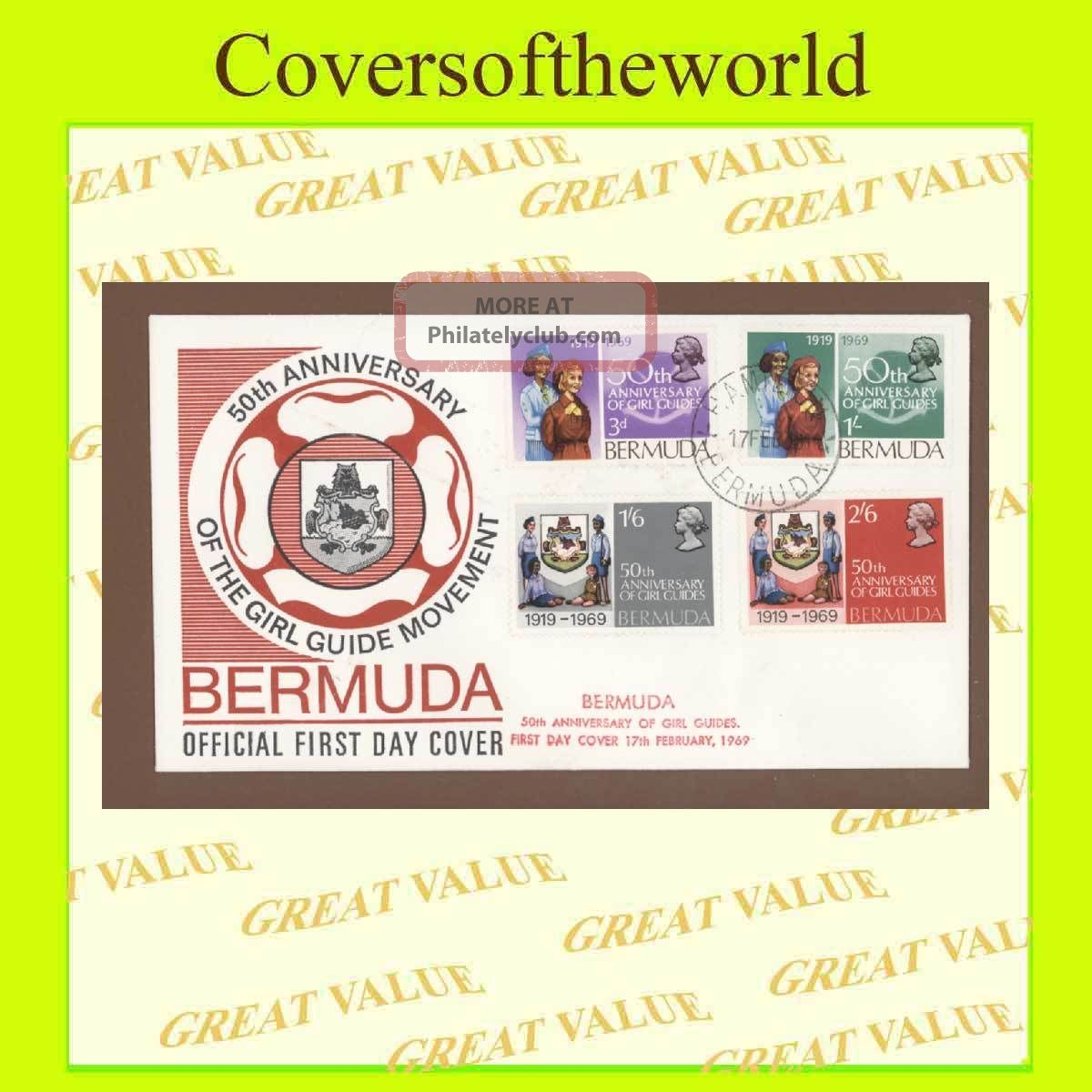 Bermuda 1969 50th Anniversary Of Girl Guides,  First Day Cover British Colonies & Territories photo