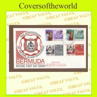 Bermuda 1969 50th Anniversary Of Girl Guides,  First Day Cover photo